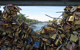 Imminent demise of the cadenas on the Pont des Arts - Explored!