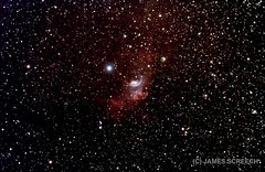 """Bubble Nebula C11 by James Screech • <a style=""""font-size:0.8em;"""" href=""""http://www.flickr.com/photos/74627054@N08/15366818601/"""" target=""""_blank"""">View on Flickr</a>"""