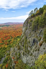robertson cliffs, vankoughnet township, ontario (twurdemann) Tags: autumn trees sky ontario canada leaves weather clouds forest landscape view hiking fallcolors scenic sunny rockface scree vantage northernontario fallcolours talus canadianshield nikcolorefex goulaisriver algomahighlands tonalcontrast voyageurtrail robertsoncliffs robertsonlakecliffs vankoughnettownship fujixe1 xf1855mm fall2014
