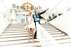 Wedding (siebe ) Tags: wedding holland netherlands dutch groom bride couple wind marriage noordwijk trouwen beachclub 2015 bruidspaar bruid trouwfoto trouwreportage bruidsfoto siebebaardafotografie wwweenfotograafgezochtnl