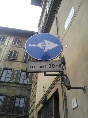 Panneau dans Florence