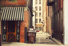(eflon) Tags: street city ohio outside alley break cincinnati smoke oh smoker bldgs