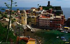 Vernazza Cinque Terre, Italy (conrad_hanchett) Tags: italy cinqueterre vernazza colourfulbuildings coastalvillage