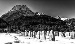 Baselgia San Geer (Adrian Hu) Tags: scuol switzerland graubünden landscape winter schweiz graveyard blackandwhite engadin berge unterengadin bw pizpisoc baselgiasangeer mountain ch sony rx1 carlzeiss sonnar235