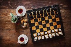 Coffee time (undermyne) Tags: nikon d700 2485 coffee mono 2485mmf284d ch chess yellow asia
