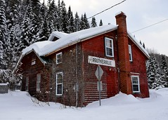 A 139-year old station (Michael Berry Railfan) Tags: routhierville qc montjolisub gaspesie trainstation