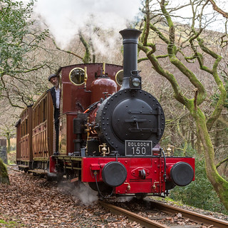 No 2 'Dolgoch' leaving Dolgoch station, Talyllyn Railway, Tywyn (Explore)