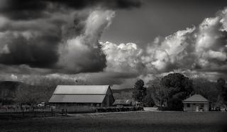 small square farm house...