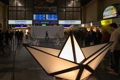 Frankfurt am Main - Luminale 2016, Hauptbahnhof (CocoChantre) Tags: bahnhof bahnverkehr deutschland europa frankfurtammain hauptbahnhof hessen innenaufnahme lichtinstallation luminale nachtaufnahme verkehr welt de