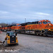 BNSF 3904 Leads WB Intermodal Wellsville, KS 3-10-17