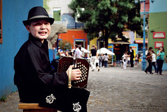 Sesin: Tango Photography (Yamila Barcia) Tags: old bw music baby streets color argentina children fun book kid buenosaires nikon colorful photographer buenos aires antique tango infantil laboca instruments antiguo caminito colorido bandoneon facundo