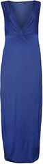 Knotted Sleeveless Maxi Dress (wearalldotcom) Tags: blue ladies summer fashion long dress royal womens plain maxi sleeveless knotted