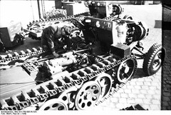 "Assembly of chassis of light tractors 3 t (Sd.Kfz 11.) • <a style=""font-size:0.8em;"" href=""http://www.flickr.com/photos/81723459@N04/14196690477/"" target=""_blank"">View on Flickr</a>"