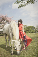 XX2 (AT.Photography) Tags: travel light sky horse orange woman white love girl beautiful grass lady night wonderful daylight amazing eyes asia soft pretty colours slim dress natural sweet bokeh outdoor farm great dream young like malaysia attractive land heels jb 24mm lovely facebook 2014 2414 60d ef24mmf14liiusm atphotography