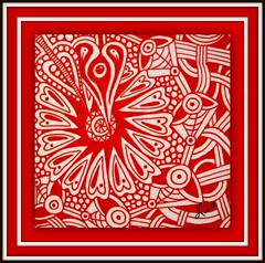 one red flower (Poppie_60) Tags: zia zentangle zentangles zendoodles zendoodle ziazentangleinspiredart