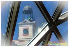 Madrid. Reloj de la puerta del Sol a través del techo de la estación del metro. (josemazcona) Tags: madrid españa azul photoshop spain nikon espanha metro cielo reloj espagne spanien spagna spanje lightroom puertadelsol 2014 d80 metrosol jmaj relojdelapuertadelsol josemanuelazconajaen josemazcona antoniofernándezalba