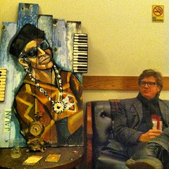 Chuck and Friend, backstage at the Cox Capitol Theatre