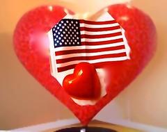 I LOVE America!  Happy 4th of July (ArtsySFMarjie) Tags: sanfrancisco copyright usa art love stone america hospital hearts miniature us san francisco heart 5 flag large 4th july patriotic x lobby heartsinsf 4thofjuly superimposed 5x5 heartart copyrightartsysfmarjie