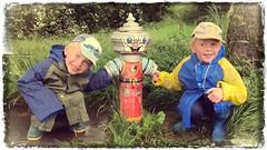 Three friends (jirihlavac74) Tags: boy boys smile grass hydrant children child knight