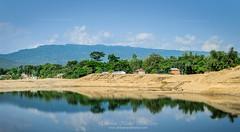 A serene place to live! (Ehtesham Khaled [www.ehteshamkhaled.com]) Tags: sky cloud house mountain reflection water nikon live 35 khaled ehtesham sylhet bangladesh 18g volagonj