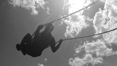 Swing to the sky#skyscape #clouds #play #swings #higher #playground (HaychHaych) Tags: playground clouds skyscape play swings higher