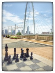 Continental Bridge Park Umbrellas Dallas Texas Margaret Hunt Hill Chess Game IMG_0404 (Dallas Photoworks) Tags: park bridge dallas texas hill continental trinity margaret avenue umbrellas groves hunt