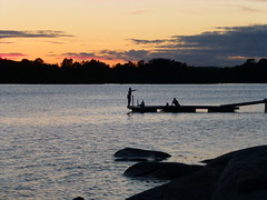 Nightswimming (skumroffe) Tags: sweden stockholm archipelago skrgrd nightswimming motljus stockholmarchipelago nsslingen stockholmsskrgrd nattdopp