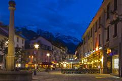 Chamonix Blue Hour (colinemcbride) Tags: france mountains alps way europe steves rick alpine le valley chamonix mont blanc hautesavoie dpartement rhnealpes chamounix brvent