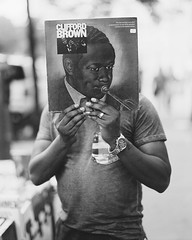Clifford Brown (alanabramsphotography) Tags: nyc newyorkcity portrait blackandwhite bw newyork slr 120 film mediumformat pentax kodak tmax scanner manhattan album 120film 200 record epson 100 filmcamera 6x7 67 xtol filmscanner v700 homedeveloping
