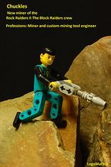Chuckles (LegoMathijs) Tags: rock lego crystal space technic scifi drill raiders miners chuckles moc foitsop legomathijs