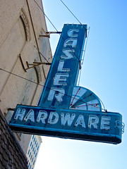 Casler Hardware, Jackson, MI (Robby Virus) Tags: sign hardware store neon michigan jackson nails casler