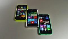 Nokia Lumia 635 in different colours