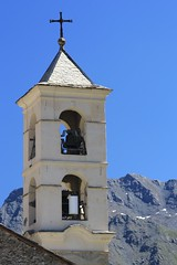 Saint-Veran, Queyras, Francia 2013 (filippi antonio) Tags: chiesa campanile francia montagna queyras saintveran