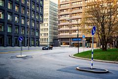 Empty street (..Thom..) Tags: travel sweden stockholm cityhall olympus fisheye blocks 9mm em10 1442ez