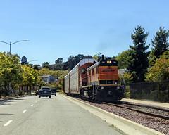 Into the yard (lennycarl08) Tags: railroad northerncalifornia train trains eastbay bnsf burlingtonnorthernsantafe calfiornia burlingtonnorthernsantaferailroad stocktonsub