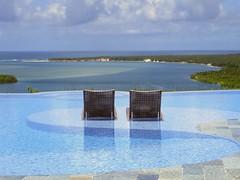 a pool with a view (saudades1000) Tags: blue sea pool paz peaceful lagoon bluelagoon oceano apoolwithaview gungaporanga gungaporangahotel