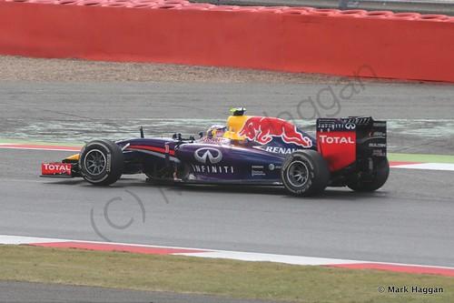 Daniel Ricciardo in his Red Bull during the 2014 British Grand Prix