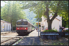 17-07-2014, Villefort, SNCF 567555 + Corail (Koen langs de baan) Tags: