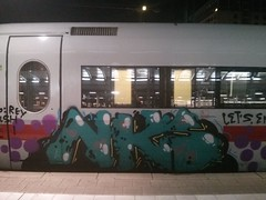 NKS (Jrgo) Tags: ice train graffiti db deutschebahn karlsruhe kiel trainspotting paintedtrain trainwriting graffitigermany