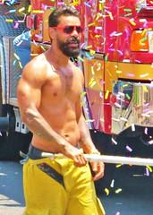 LAPride2 2014 283 (danimaniacs) Tags: shirtless man hot sexy guy tattoo beard losangeles hunk parade gaypride westhollywood csw lapride22014