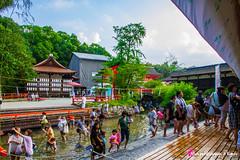 Mitarashi matsuri (  ) (Voyage  Kyoto) Tags: travel canon kyoto   guide  t kansai juillet japon sanctuary  shimogamo sanctuaire 7 ruisseau  mitarashi mitarashimatsuri shimogamojinja    eos7d canon7d ftereligieuse guidekyoto