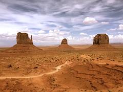 Monument Valley (spork_spelunking) Tags: arizona sky southwest monument landscape utah rocks desert roadtrip valley giants dirtroad geology mitten iphone tribalpark