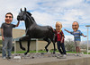 August 23, 2014 (64/365+3) (gaymay) Tags: california gay portrait horse love statue happy palmsprings triad