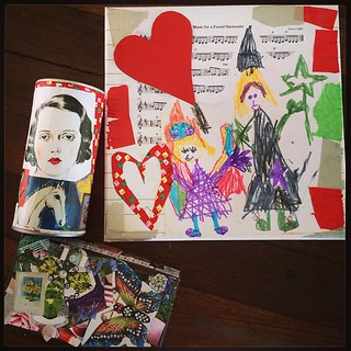 365/231 • today we got our decoupage on • #2014_ig_231 #art #glue #creativity #making #weareallabitundertheweather