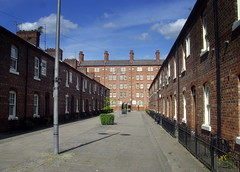 Inner City Terrace (Tony Worrall) Tags: road county street city uk houses homes england urban architecture buildings manchester town place north location row innercity sunlit built doorways terraced ancoats cornellstreet 2014tonyworrall