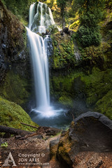 Falls Creek Falls (Jon Ares) Tags: trees cliff usa green water canon waterfall washington rocks splash cascade giffordpinchot