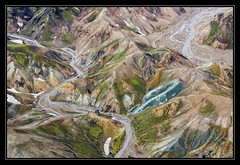 Rhyolite Ravines (Explored) (RattyBoots) Tags: canon iceland aerialview 7d ryolite landmannalauger canon24105 charterflight july2014