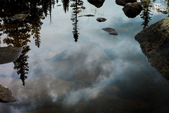polarizers are dumb (whlteXbread) Tags: summer sky reflection water clouds forest pond colorado afternoon summilux 50mmf14 longlake m9 pristine 2014 whatimseeing