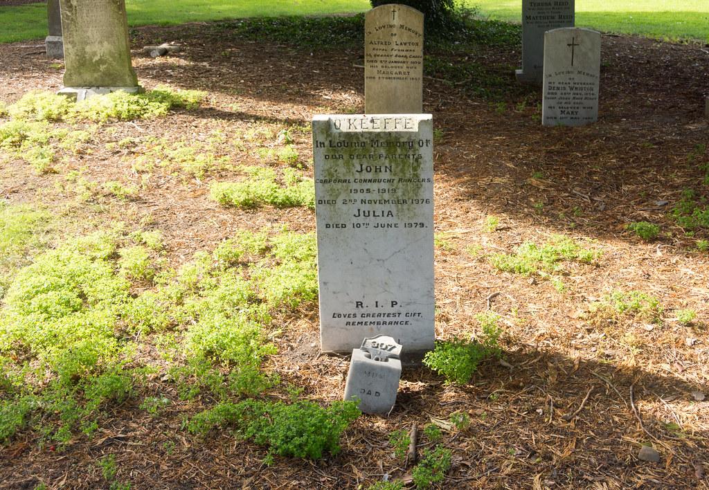 JOHN O'KEEFFE [CONNAUGH RANGERS] - GRANGEGORMAN MILITARY CEMETERY Ref-2128