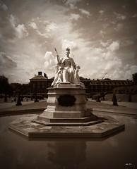 queen victoria (kathryn Wilkins) Tags: blackandwhite london sepia palace victoria queen kensington